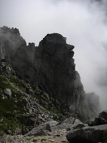 宝剣岳の岩場