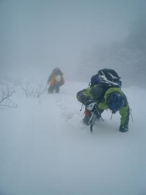 別山バットレス中央稜へ