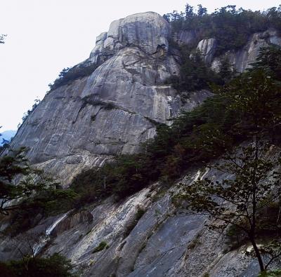 鉾岳 大滝左ルート