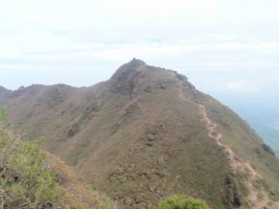 東峰を眺める