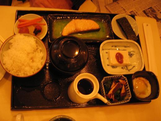 宿泊したNY「ザ・ピエール」での日本食の朝食
