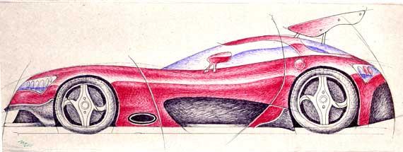 車ラフ2007.1.27え