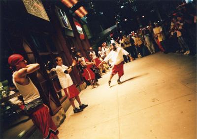タイムズスクエアのストリートダンス