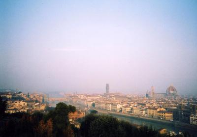 ミケランジェロ広場からのフィレンツェの街