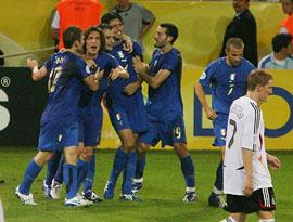はしゃぐイタリアチーム