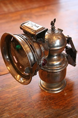 Carbide lamps.