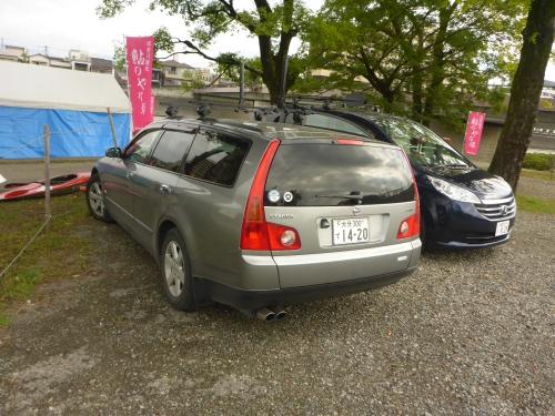 キャンプした駐車場です。