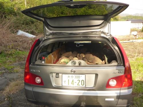 私のワゴン車にもかなりの量が入りました。