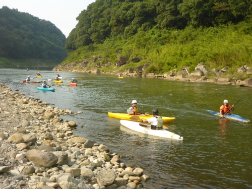 大野川での「のんびりカヌー教室」