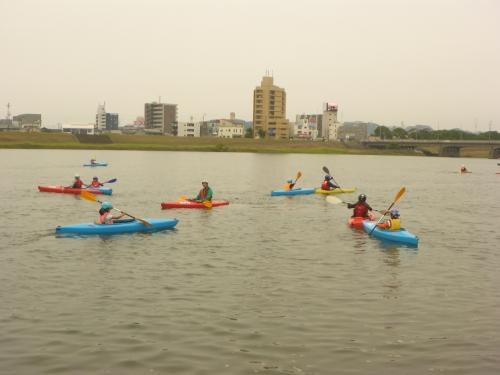 大分市カヌー協会のカヌー体験