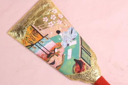 最近完成した手描き彩色の羽子板