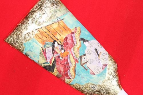 みかわ工房の羽子板「紫式部日記」の五十日祝いの図