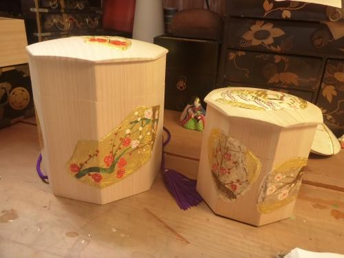 みかわ工房の2種類の貝入れ箱