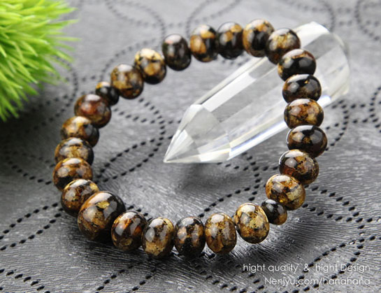 虎琥珀 数珠