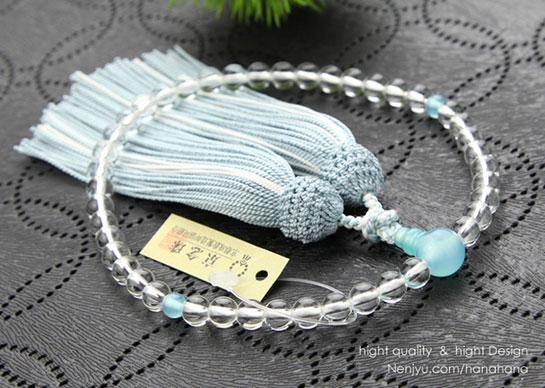 シーブルーカルセドニー 数珠