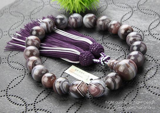 数珠 縞瑪瑙