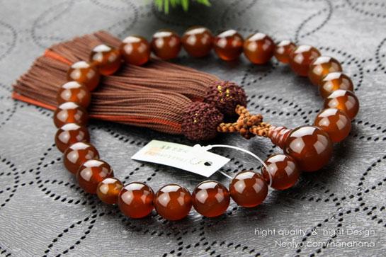 ブラウン瑪瑙 数珠