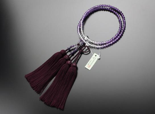 浄土真宗,数珠,女性用,紫水晶