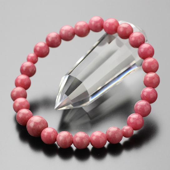 数珠ブレスレット バラ輝石