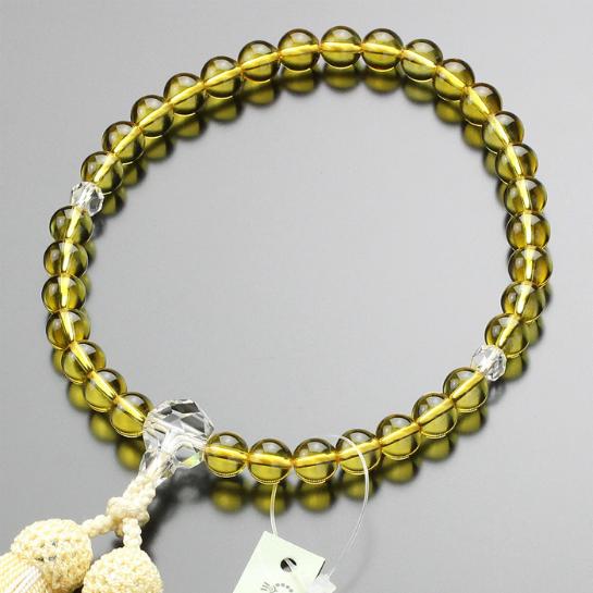 数珠 黄水晶