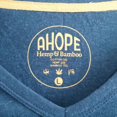 A HOPE HEMP「V Neck Bamboo 7SL Tee