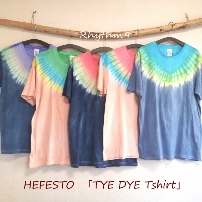 宇井 佑三郎 HEFESTO TYE DYE Tシャツ タイダイ Tシャツ 絞り染め Rhythm9 リズムナイン