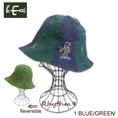 LEO  リオ 田植えハット  リバーシブル RICE PLANTING HAT Reversible  REALL リオール ホフマンクン Rhythm9 リズムナイン リズム9