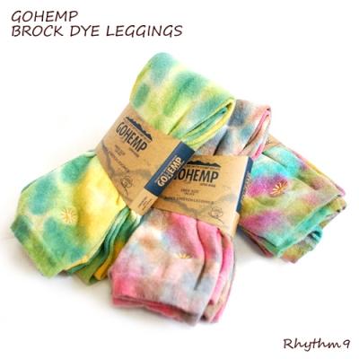 GOHEMP,SALE,BROCK DYE LEGGINGS,レギンス,タイダイ,通販,Rhythm9,リズムナイン,リズム9