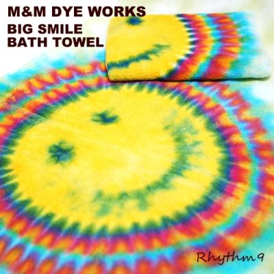 M&M DYE WORKS,タイダイ タオル,TIE DYE TOWEL,BATH TOWEL,エムアンドエムダイワークス,スマイルバスタオル,Rhythm9,リズムナイン,リズム9