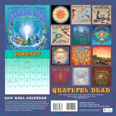 GRATEFUL DEAD WALL CALENDER 2014,グレイトフルデッドカレンダー2014,Rhythm9,リズムナイン
