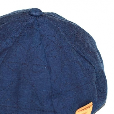 麻 ベレー帽