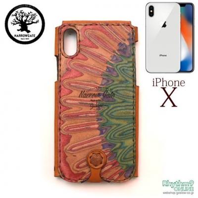 iphoneX レザーカバー