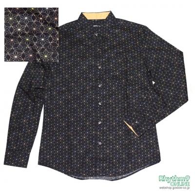 麻紋様 シャツ