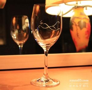 猫柄赤ワイングラス(シングル)G-16