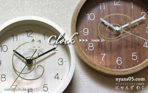 猫柄掛け置き兼用時計