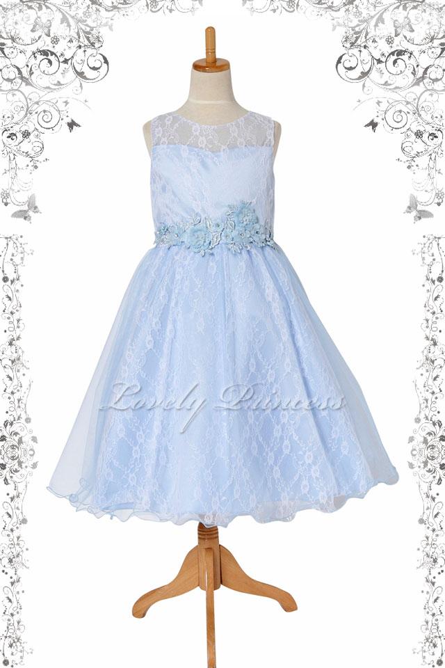 子供ドレス エヴァ ブルー