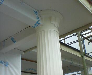 玄関ポーチ柱