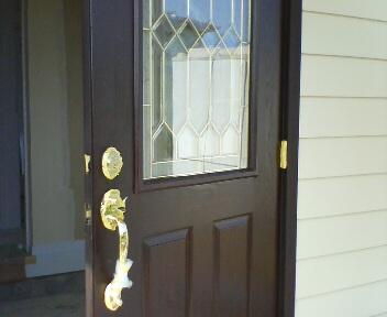 玄関ドア塗装済み