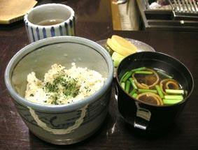 雪鱒の炊き込みご飯