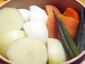 野菜蒸籠蒸し