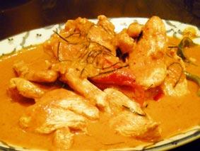 鶏カレー炒め