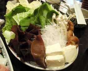 タイスキの野菜