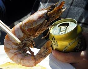 海老と恵比寿ビール