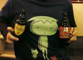 ビール持つ王子