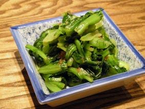 小松菜の生姜あえ