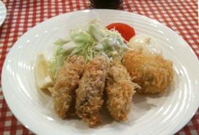 コイズミの牡蛎フライとカニクリームコロッケ
