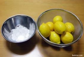 レモンと氷砂糖