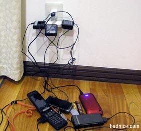 携帯電話充電