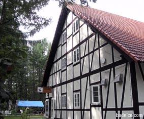 朝食場所の建物