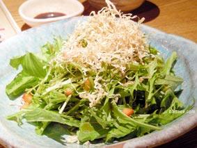 越後屋の水菜サラダ
